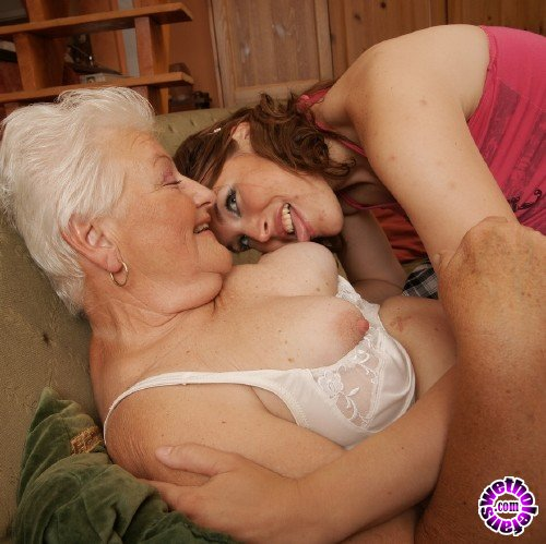 Mature - Lilu 19, Vera D 65 - Horny hot babe doing a lesbian old mama (FullHD/1080p/1.03 GB)