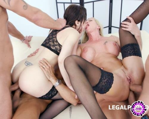 LegalPorno - Lara De Santis, Monika Wild - 4 On 2 Manhandle And DAP Monika Wild Gets The Fuck Of Her Life With Lara De Santis Balls Deep Anal, DAP, Gapes, Slapping GIO497 (FullHD/1080p/4.66 GB)