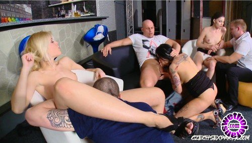 CzechSexParty/PornCZ - Kirsten Plant, Sweet Cat, Zena little - Three Czech bitches fucked with horny guys, part 1 (FullHD/1080p/3.86 GB)