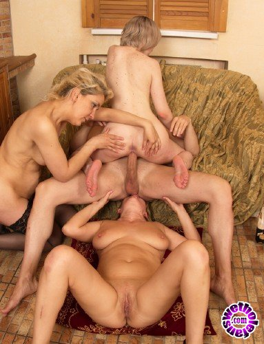 Mature - Alyona 35, Emmy 21, Nora 40 - Three horny old and young females share one hard (FullHD/1080p/2.14 GB)