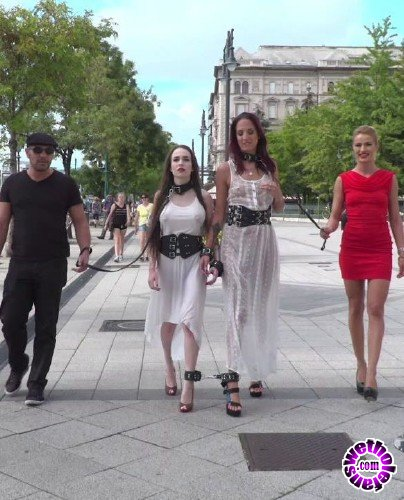 PublicDisgrace/Kink - Cherry Kiss, Antonio Ross, Angel Rush , Lyen Parker - Fresh Meat Angel Rush and Lyen Parker Humilated and Fucked in Public! (HD/2.4GB)