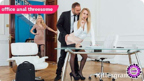 Killergram - Misha Cross, Carmel Anderson - Office Anal Threesome (HD/720p/810 MB)