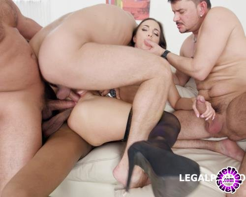 LegalPorno - Kristy Black - Kristy Black Lesson 1 4 On 1 Anal, DAP, TP, Gapes, Creampie To Glass And Swallow GIO607 (FullHD/1080p/5.32 GB)