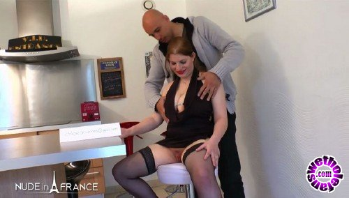 NudeInFrance - Phoebe - Chubby redhead slut with huge tits gets anal pounded (HD/720p/577 MB)