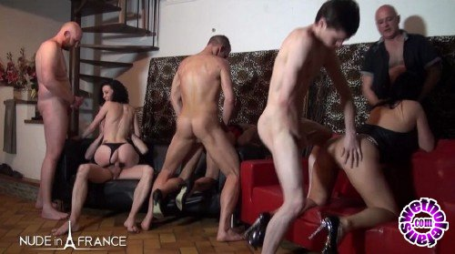 NudeInFrance - Venus Lova, Savannah, Tania Kiss - Three hotties hard fucked and double penetrated in a big orgy (HD/720p/673 MB)