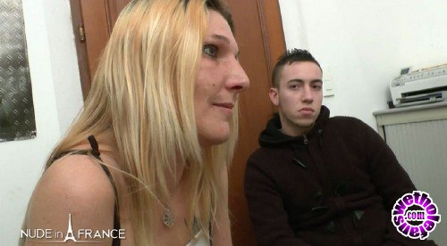 NudeInFrance - Caroline - Blonde whore answers casting call with stud and gets cock on camera (HD/720p/582 MB)