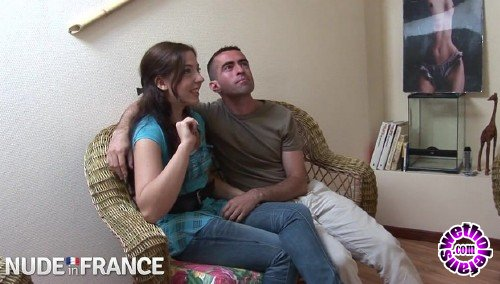 NudeInFrance - Daphnee Lecerf - Camera crew convince couple to fuck on film (HD/720p/983 MB)
