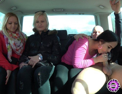 TakeVan - Jennifer, Girlfriends - Girlfriends left one of them enjoy cock in driving van (FullHD/1.7GB)