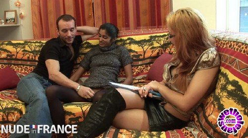 NudeInFrance - Indiana Fox - Interracial Threesome With On Fat Dick, One White Pussy, and Some Arab Tits (HD/720p/786 MB)