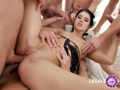 LegalPorno - Nicole Black - Nicole Black Lesson Number 8, 10 On 1 DAP Gangband Balls Deep Anal, DAP, TP, Gapes, Swallow GIO576 (FullHD/1080p/5.12 GB)