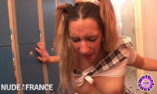 NudeInFrance - Keyra Chanel - Slutty blonde gets fucked in school girl uniform (HD/720p/477 MB)