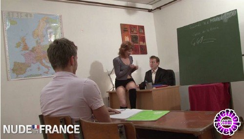 NudeInFrance - Pandora Doll - Slutty redhead gets fucked by teacher and classmate (HD/720p/446 MB)