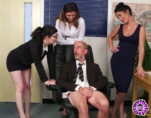 PureCFNM - Dion De Rossi, Ella Bella, Eva Johnson - Office After Hours (FullHD/1080p/519 MB)