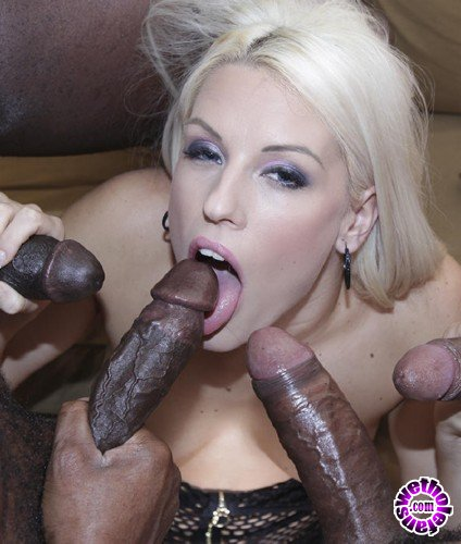 PinkoClub - Blanche Bradburry - Blonde and depraved girl gets fucked by four black studs (FullHD/1080p/2.25 GB)