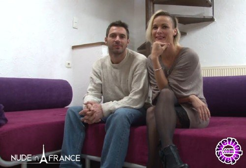 NudeInFrance - Imany - Casting couch of a small titted blonde milf getting banged by her boyfriend (HD/720p/515 MB)