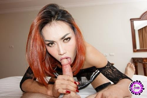 LadyBoyGold - Many - Many Miniskirt and Tie Bend Over Creampie (HD/720p/1.19 GB)