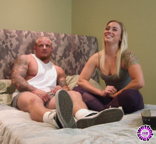 BrickYates - Princess, Viking - Fitness couple does anal and eats cum off of a doughnut after their workout (FullHD/1080p/752 MB)