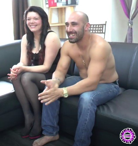 NudeinFrance - Leslie - First time casting couch of a pretty brunette in lingerie getting banged by her mans best friend (HD/720p/622 MB)