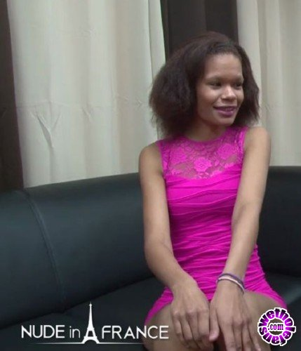 NudeinFrance - Eva Tigers - Casting couch of a skinny black slut getting deepthroat and fucked hard (HD/720p/523 MB)