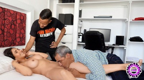 Sexmex - Silvia Santez - Son and Father Fuck fathers Fiance (HD/720p/686 MB)