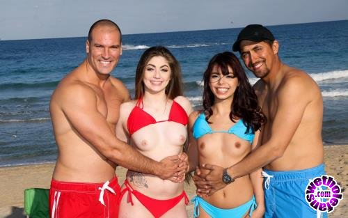 DaughterSwap - Gina Valentina And Kobi Brian - Beach Bait And Switch 2 (FullHD/1080p/1.85 GB)