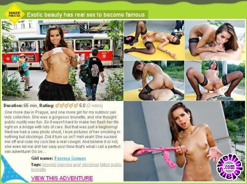 WTFPass - Ferrera Gomes - Exotic beauty has real sex to become famous (HD/720p/2.35 GB)