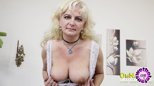 OldNanny - Moni - Hot blonde Moni in sexy lingerie playing with her body (FullHD/1080p/564 MB)