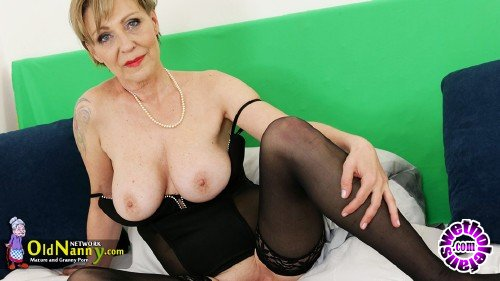 OldNanny - Milena - Extreme sexy model Milena plays with blue dildo (FullHD/1080p/1.66 GB)