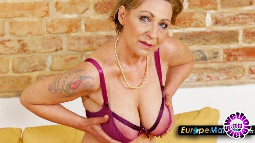 OldNanny/EuropeMature - Milena - Very naughty older women in nylons plays with toy (FullHD/1080p/1.62 GB)
