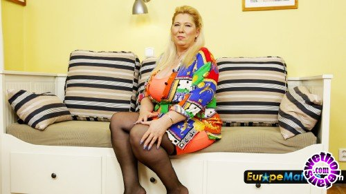 OldNanny/EuropeMature - JanaT - Blonde chubby older woman with big boobs (FullHD/1080p/1.52 GB)