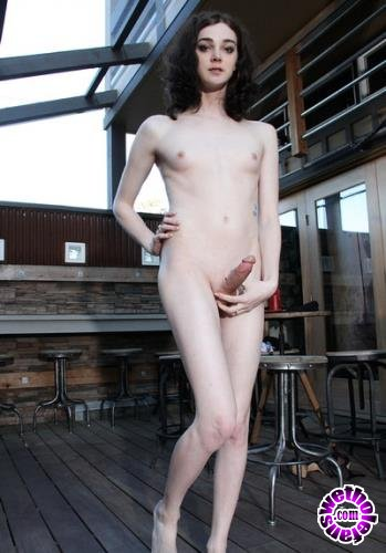 SheMaleStrokers - Sasha Skyes - Cute Trans Girl Creams It Up All For You! (FullHD/1080p/1.34 GB)
